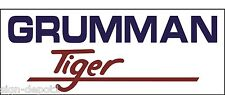 A083 Grumman Tiger Airplane banner hangar garage decor Aircraft signs