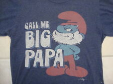 Call Me Big Papa Funny Pick Up Line Smurf Smurfs Cartoon Movie TV Show T Shirt S