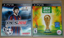 PS3 Game Lot - PES 2010 Soccer (Used) 2014 FIFA World Cup Brazil (New)