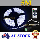 Waterproof Cool White DC 12V 5M 5630 SMD 300 Leds LED Strip Light+Remote Dimmer