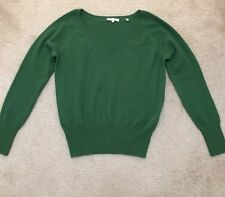 NEW VINCE V NECK 100% CASHMERE WOMEN GREEN SWEATER SIZE SMALL $325