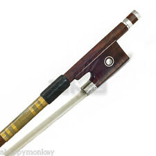 High Quality New 4/4 Full Size Violin Bow AA Grade SnakeWood Abalone Gold Wrap