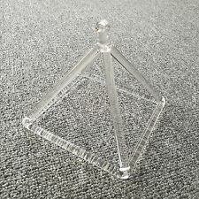"Optically Clear Quartz Crystal Singing Pyramid 6"" Crystal Singing Bowl"