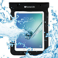 Black Waterproof Pouch Tablet Bag For Samsung Galaxy Tab S2/Tab A/Tab E 8.0""