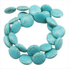 2 Strings Bulk Disc Oblate Style Gemstones Turquoise Spacer Beads 16mm FREE P&P
