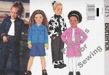 Pattern Butterick Sewing Girl Winter Jacket Skirt Pants Size 2-5 NEW OOP