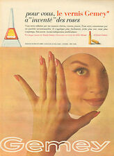 Publicité Advertising 1961  GEMEY vernis à ongles