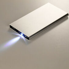 Ultrathin 50000mAh External Battery Charger Power Bank for Phones Silver New