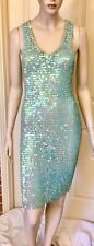 Vintage Stretchy Sequin Crocheted Dress In A Size M Lined