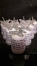 10 personalised votive candle wedding favours