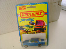 1976 MATCHBOX LESNEY SUPERFAST #56 BLUE MERCEDES 450 SEL NEW ON CARD