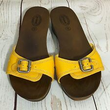 Dr Scholl's Advanced Comfort Series Yellow Sandals Clogs Shoes Size 8