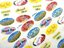 Thank You Oval Seal Labels, Stickers for Envelopes, Gifts, Cards SOV TH MIX/48