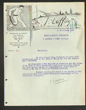 """PAU (64) MATERIEL de SPORT / PELOTE BASQUE """"Ets LES BAMBOUS / J. LAFFON"""" en 1933"""
