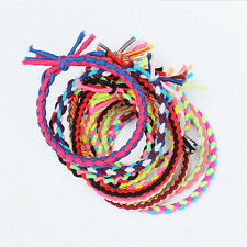 10pcs Thin Braided Colorful Hair Elastics Hairbands Bands Rainbow Hair Accessory