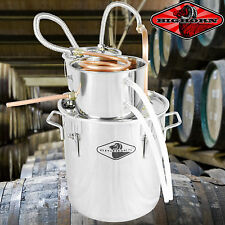 NEW 5 Gal Water Wine Alcohol Distiller Moonshine Still Boiler Stainless Copper X