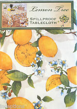 Lemon Tree Treated Indoor Outdoor Spill-proof Tablecloth Yellow 60 x 104 - NEW