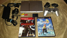 Sony PlayStation 2 Silver Console (SCPH-77001) & 2 Games - Final Fantasy X -
