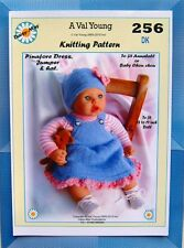 1 DOLLS KNITTING PATTERN for 18-20 inch. Annabell  doll No.256 by Val Young