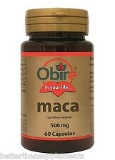 Obire Maca 500mg 60caps sexual support male potency libido vigor - free shipping