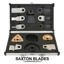 13 Saxton Blades Case Set for Worx Sonicrafter Energer Multitool
