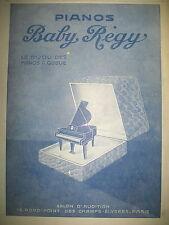PUBLICITE DE PRESSE BABY REGUY PIANO A QUEUE FRENCH AD 1929