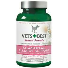 Vet's Best Seasonal Allergy Support Supplement for Dogs, 60 Tablets New