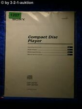 Sony Bedienungsanleitung CDP XB740 / XB740E CD Player (#1207)