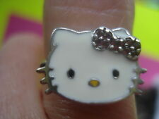 AUTHENTIC HELLO KITTY RING PINK TOURMALINE BOW STERLING 7 NEW 195.00