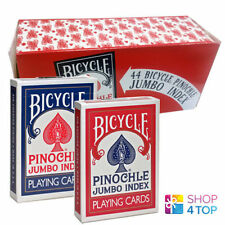 BICYCLE PINOCHLE 12 DECKS PLAYING CARDS DECK BLUE AND RED JUMBO INDEX USPCC NEW