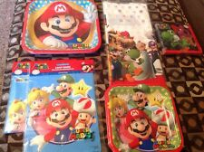 NEW SUPER MARIO AND FRIENDS 8 PC BIRTHDAY PARTY SET W-PLATES, BAGS & MORE!