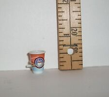 MATTEL BARBIE DOLL RARE CUP OF GOURMET COFFEE FITS IN HOLE IN RING FINGER #2