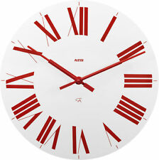 Alessi - 12 WR - Firenze, Wall clock  - White And Red