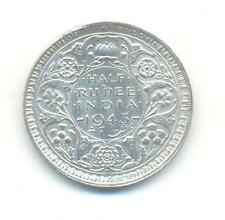 VERY NICE RARE.INDIA.HALF RUPEE.1943.UNC.IN SILVER..VERY COLLECTABLE.A.113
