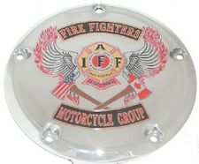 99+ HARLEY TWIN CAM CLUTCH PRIMARY DERBY COVER FIREFIGHTER
