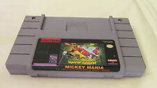 Mickey Mania Mickey Mouse Super Nintendo SNES Game Cartridge Only Tested