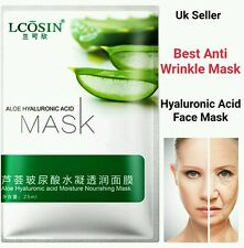 Hyaluronic Acid Face Mask Collegen peeling Anti Ageing Wrinkle Alovera Silk Mask