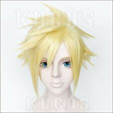 FINAL FANTASY VII REMAKE Cloud yellow COSPLAY WIG Anime party Perücke hair