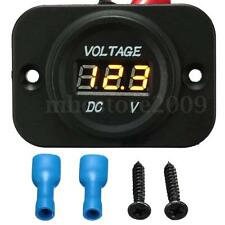 12V-24V Car Van Boat Marine Motorcycle LED Voltmeter Voltage Meter Battery Gauge