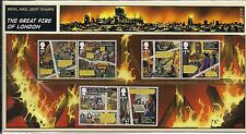 2016 GB QEII COMMEMORATIVE STAMP PRESENTATION PACK NO 531 GREAT FIRE OF LONDON