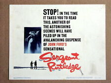 SERGEANT RUTLEDGE Original WESTERN Title Lobby Card JOHN FORD CONSTANCE TOWERS
