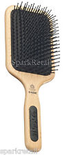 Kent Mega-Phine Large Taming  Paddle BRUSH Nylon Ball Tip Wooden Hairbrush PF17
