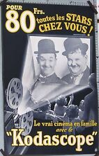 VINTAGE AD LAUREL & HARDY KODASCOPELE TRUE CINEMA METRO GOLDWYN MAYER circa 1954