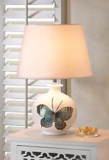 GALLERY BUTTERFLY TABLE LAMP & SOFT WHITE SHADE DECOR NEW~10016024