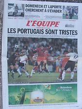 L'Equipe du 20/6/2008 - Euro : le Portugal éliminé -