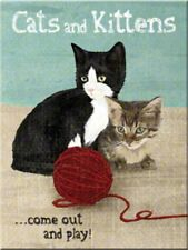 DECO : MAGNET (8 X 6cm) : CATS & KITTENS (CHATS)