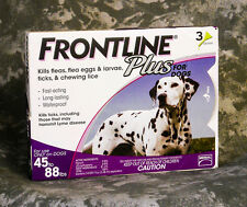 Frontline Plus for Dogs 45-88 lbs Purple 3 Pk