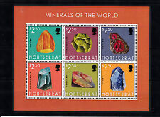 Montserrat 2013 MNH Minerals of World 6v M/S Amber Garnet Microcline Lapis Rocks