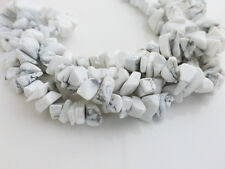 White Howlite Chip Beads 34 Inch Strand 5-8mm Beads Chips Gemstone        (GB87)