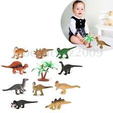 12 Assorted Mini Dinosaur Animals Model Figurine Kids Education Toy With A Tree